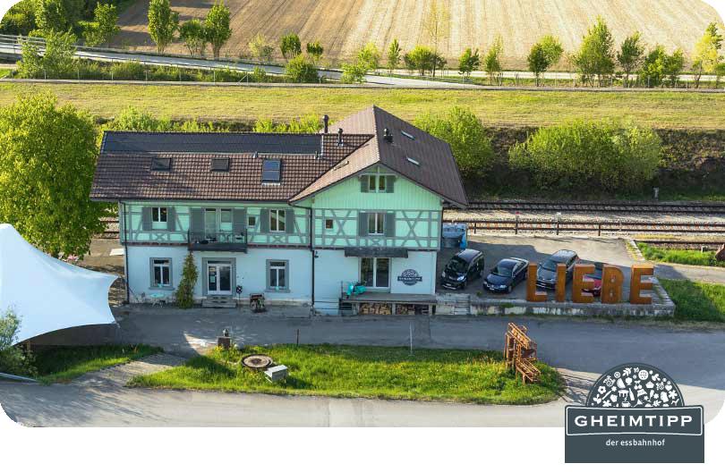 Gheimtipp – Der Essbahnhof in Leuzigen